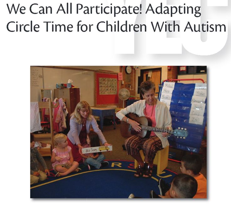 Young Exceptional Children (YEC) has published an article providing practical ways to adapt circle time for children with autism, as well as an introductory discussion explaining why including children with autism in circle time is, while difficult, a worthwhile and important thing to do.