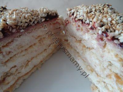 """www.przepismamy.pl: Ciasto bez pieczenia """"Chałwowiec"""""""