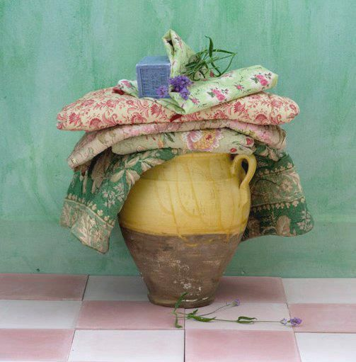 Soak vintage textile