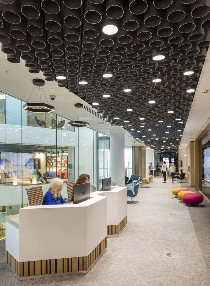 Hammerson headquarters offices by edge london uk for Office ceiling design