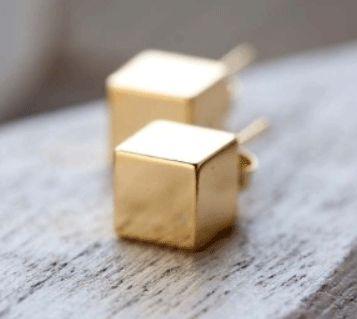 Mod Cube Post Earrings