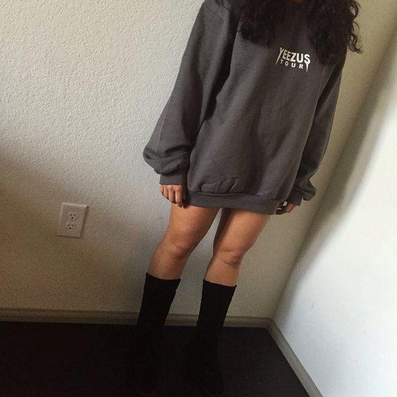 Yeezus Tour Charcoal Crew Neck Sweat Shirt Kanye West / Yeezy