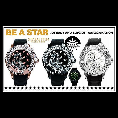 Galtiscopio(ガルティスコピオ)3周年を記念して特別にデザインされたこの時計Star(スター)は、ブランドに革新を与える反面、美しく洗練されたデザインコンセプトを忠実に守り、遊び心の効いたヒップなファッションスタイルを約束します。  このエディションで、新しく導入された夜光のGlowStar パターンは、Galtiscopio の時計を不思議で神秘的なものにしています。夜光材料は、まるで時計のフェイスに刻まれた見事な夜空のように、時計を光輝かせます。スタイリッシュな夜光の GlowStar パターンは、3Dクリスタルの馬と Swarovski と共に、星明かりの夜に完全に溶け込みます。Galtiscopio のStar は、身に付ける時はいつでも、他の誰よりもあなたを目立たせてくれます。