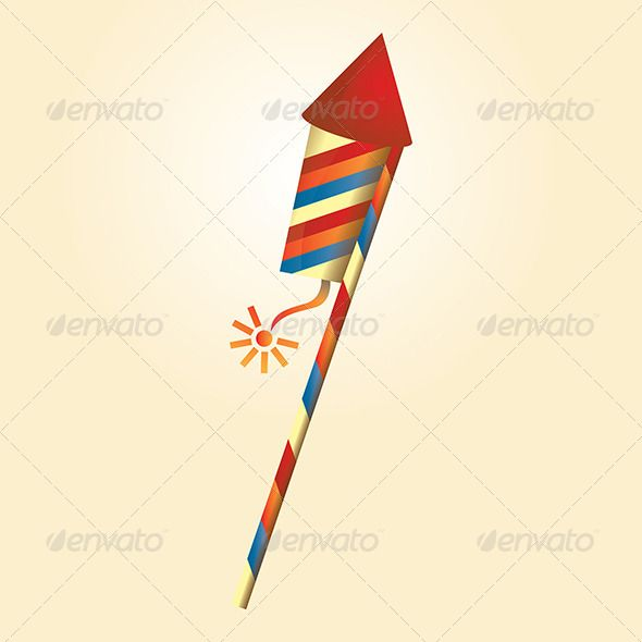 """Firework Rocket  #GraphicRiver         """"Firework Rocket Illustrations representing celebration, opening and happiness could be use for design decoration.   High quality whole vector shapes with smooth curves, sharp edges and soft colors. Easy modification all are separate objects. This graphic is suitable for any screen and print design. Scalable at any size from tiny icon to Huge wall graphic without loosing the quality.   - Zip contains Ai10 compatible EPS and High Quality JPG.""""…"""