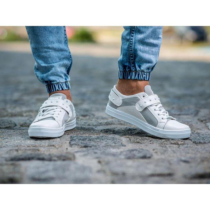 Pánske štýlové topánky bielej | manSTYLE.sk