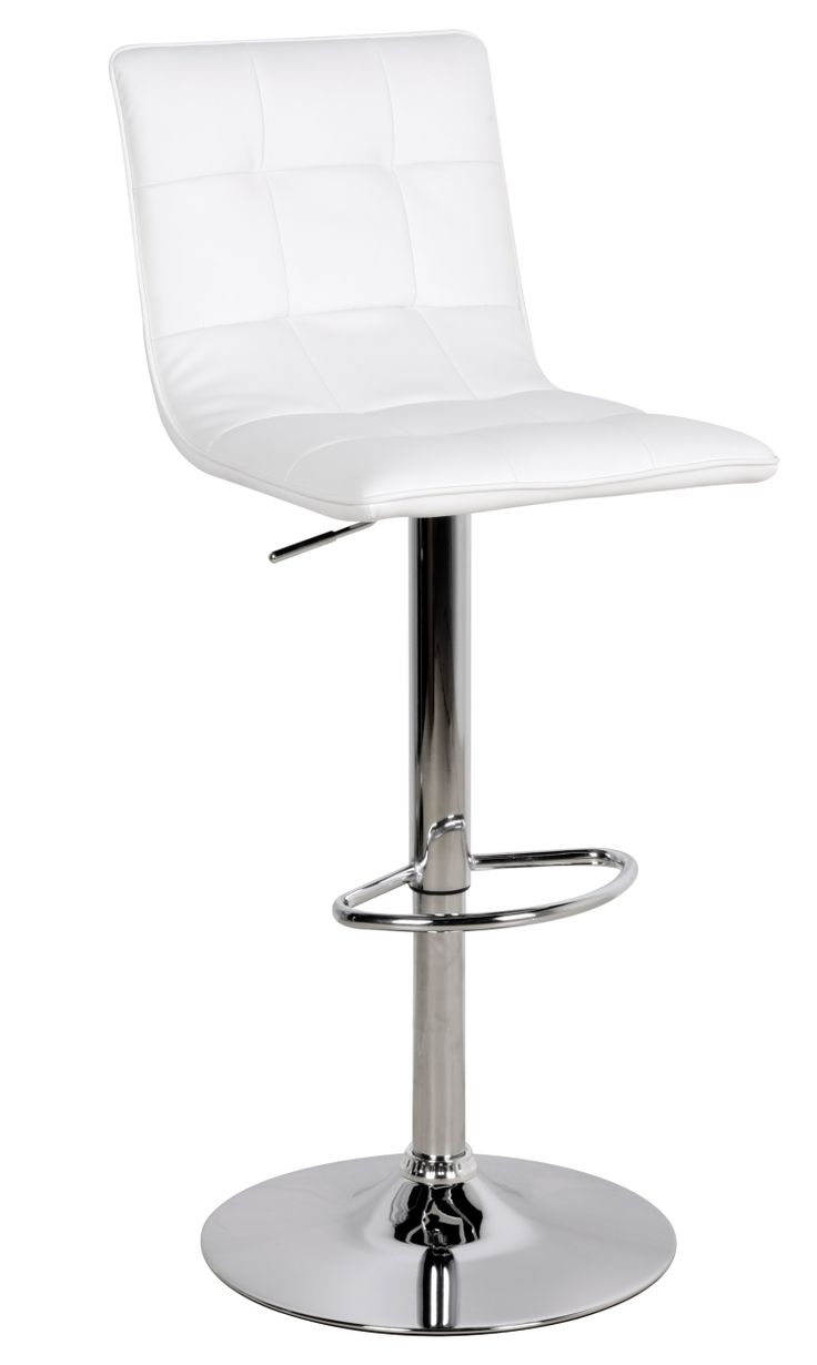 Vigo Bar Stool  Take a well earned break on one of these height adjustable faux leather stools  Available in black or white faux leather. W470mm x D420mm x H930mm extending up to 1150mm
