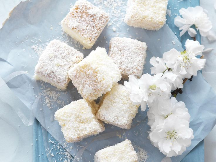 White chocolate lamingtons, sugar recipe, brought to you by Australian Women's Weekly