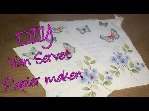 ▶ Hoe maak ik van een servet mooi papier? Leuke techniek waar je veel mee kan! - YouTube