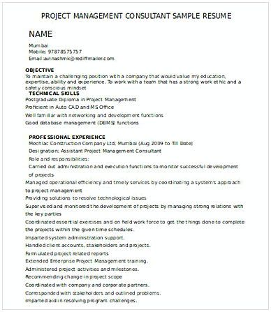 1098 best Resume template images on Pinterest - management consultant resume