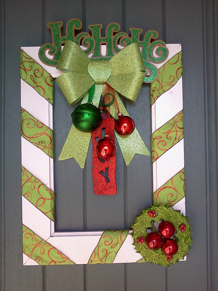 130 best DIY Christmas frames ~ images on Pinterest | Xmas ...