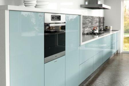 Light Blue Gloss Kitchen