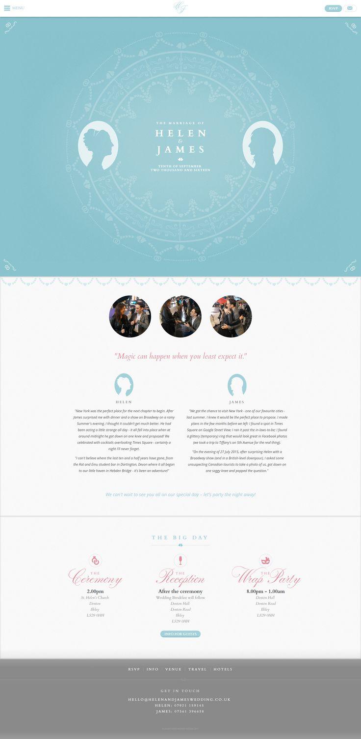helen and james wedding website homepage georgian wedgwood influenced design site design