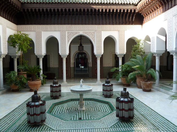 Moroccan Patios Courtyards Ideas Photos Decor And: Indoor Courtyard Inspired By Morocco