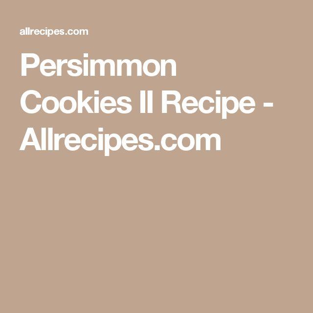 Persimmon Cookies II Recipe - Allrecipes.com