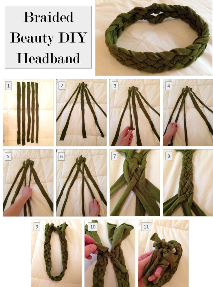 No sew DIY Braided headband, this pattern is so fun and different!