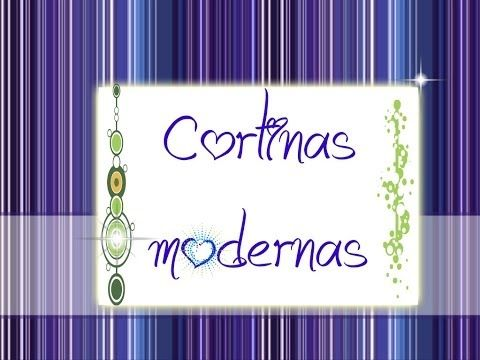 Como hacer cortinas modernas - YouTube
