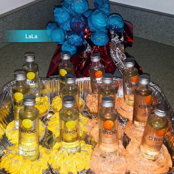 Cupcakes with Ciroc liquor and cake balls dipped in white chocolate