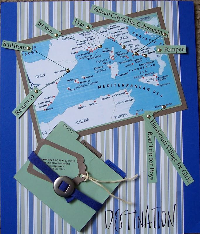 scrapbook page layouts cruise jamaica   All in One Place: My First Scrapbook 2005