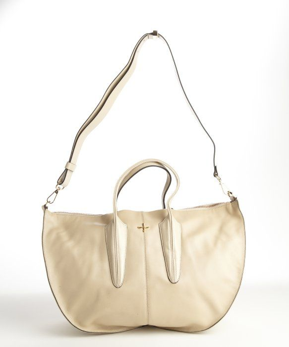 I love Pour la Victoire ANYTHING! : white leather 'Cecile' satchel