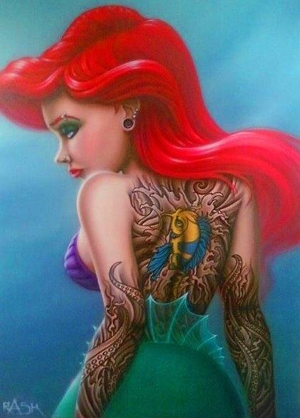 Tattooed Ariel from The Little Mermaid!