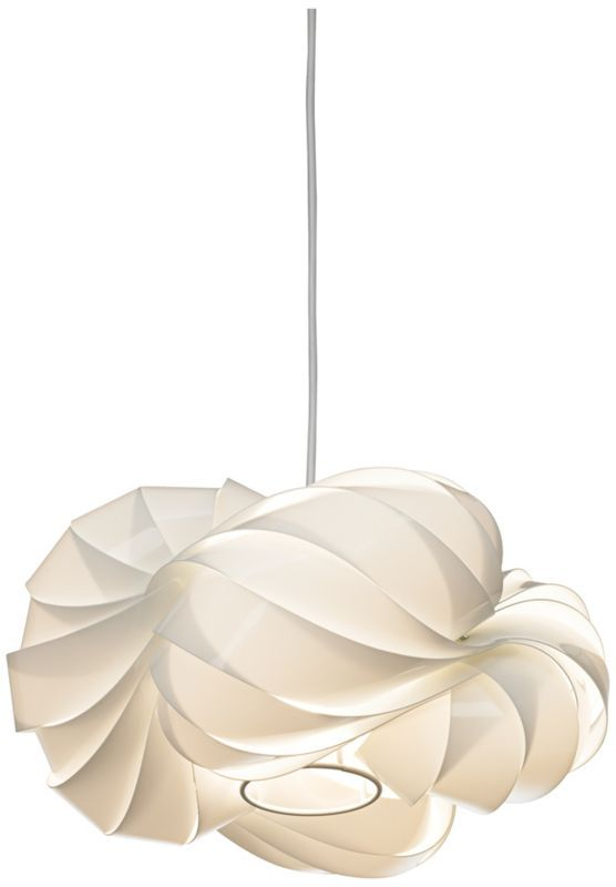 White Billowing Cloud Possini Euro Pendant Chandelier