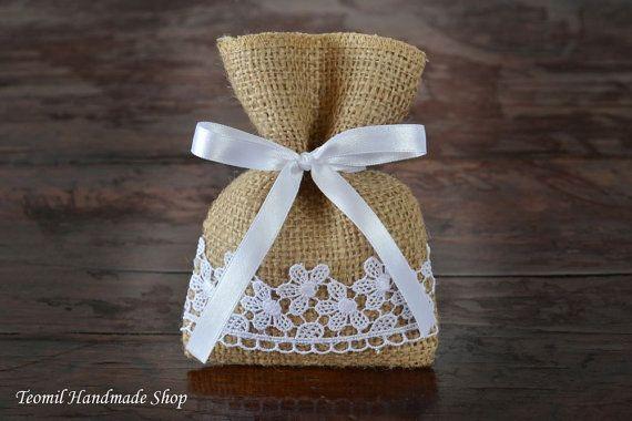Rustic Favor Bags, Candy Buffet Bags, Burlap, Beach Wedding Favor Bags, - SET OF 50