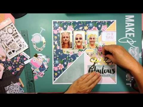 Challenge Your Stash - Girl remember scrapbook layout