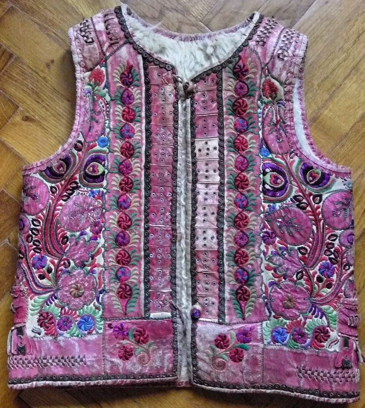 Transylvanian sheepski embroidered vest