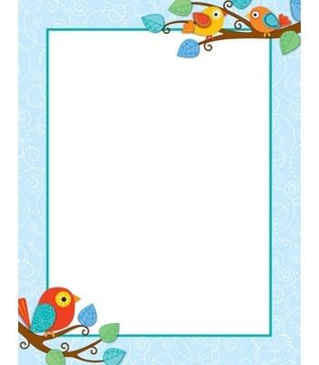 Boho Birds Blank Chart Create Your Own Inspirational
