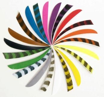 Different style turkey feathers for hunting arrows  ruby@oulay.com http://oulay.en.alibaba.com/