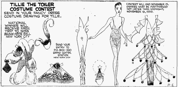 Great illustration about where to start when thinking about putting together a Beaux Arts outfit.