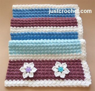 Free crochet pattern for everyday baby blanket http://www.justcrochet.com/everyday-blanket-usa.html #patternsforcrochet #justcrochet