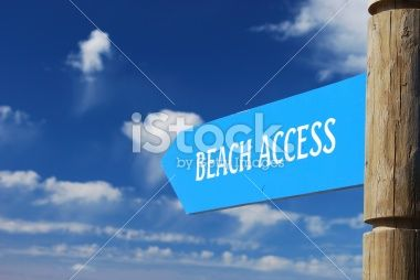 Beach Access Signpost Royalty Free Stock Photo