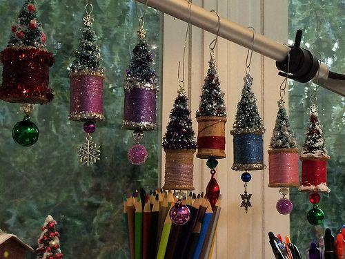 spool ornaments -