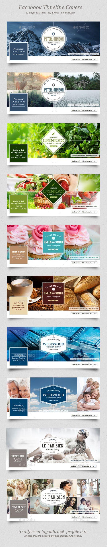 10 Facebook Timeline Covers Template PSD #design Download: http://graphicriver.net/item/10-facebook-timeline-covers/12151624?ref=ksioks