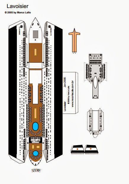 Educar X: Molde de navio para maquete