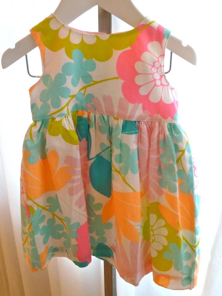 Marimekko style print baby dress in vibrant colour from BHS for spring 2013