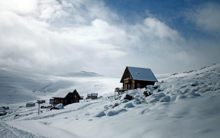 Snowboard in Africa.   Afri-Ski Resort, Lesotho