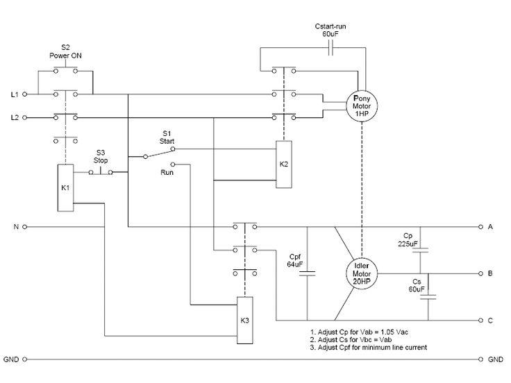 Pony Start Rotary Phase Converter Converter Rotary Circuit Diagram