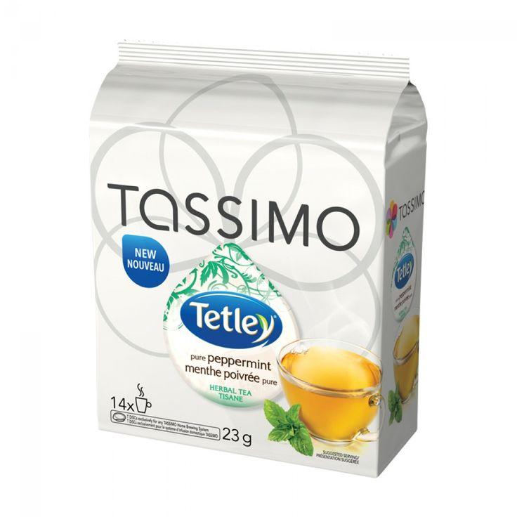 Tassimo Tetley Pure Peppermint Tea 14 T-Discs | Refreshing pure Tetley peppermint tea, brewed instantly with your Tassimo! #tassimo #tea #peppermint