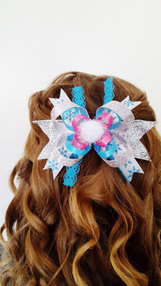 Hair Bow, Christmas Bow, Ribbon Bows, Hair Accessories, Girls Christmas Hair, Christmas Gift, Secret Santa, Stocking Stuffer, Girl Gift by KimsCreations61 on Etsy