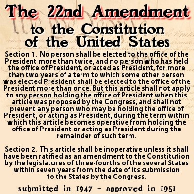 22nd amendment to the us constitution usconstitution