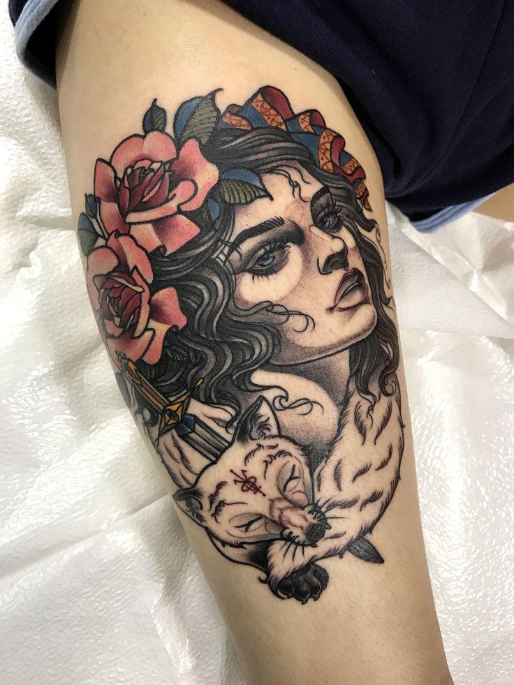 #foxgirl - 오늘은 여기까지!  today progress 아이유닮은 소녀에게 Tattoo machines by @cstattoomachine 타투상담&문의: 카톡:qpqpgi #foxtattoo#foxgirl#tattoo#crystaltattoo#tattoovim#이바사타투#타투이스트크리스탈