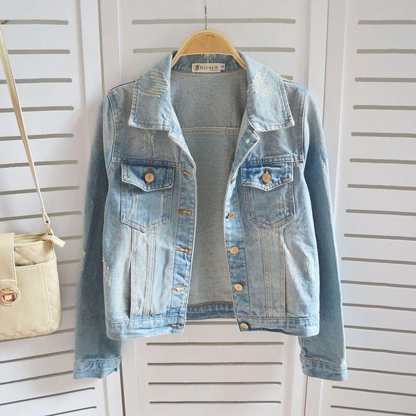 M s de 25 ideas incre bles sobre chaquetas de mezclilla en for Agujeros femeninos