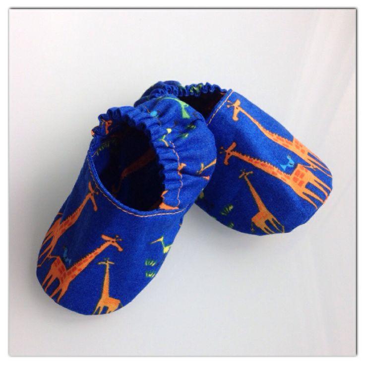 Handmade organic fabric baby shoes
