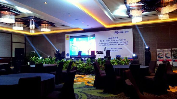 Launching Trade Finance Online by PT. BANK RAKYAT INDONESIA & PT. PLN Indonesia at Sheraton Kuta Resort Bali