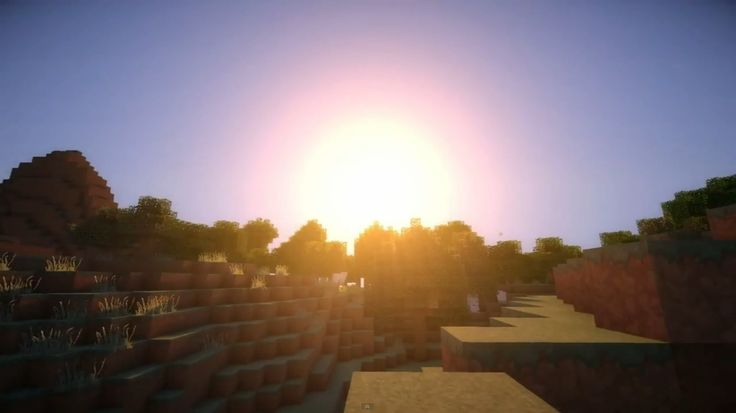 Beautiful morning with shaders | Minecraft | Pinterest ...