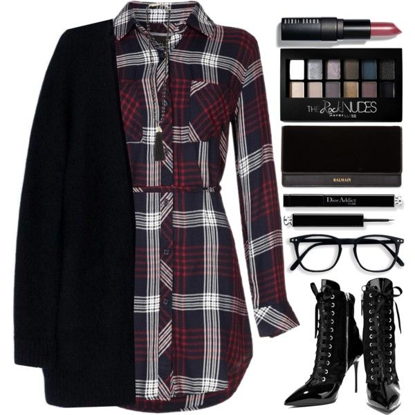 How To Wear Tartan Dress Outfit Idea 2017 - Fashion Trends Ready To Wear For Plus Size, Curvy Women Over 20, 30, 40, 50