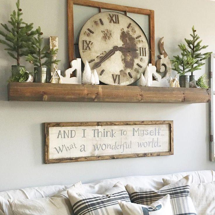 Shelf above sofa
