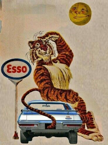 Vintage Esso print ad (Esso was an early predecessor of the Exxon/Mobil Corporation)